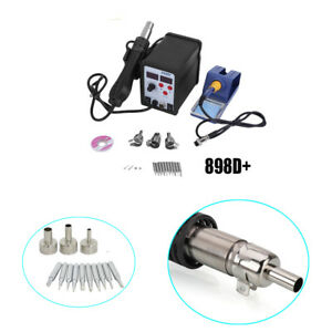898d 2in1 Dual display Electric Soldering Station Hot Air Gun Kit With 11 Tips