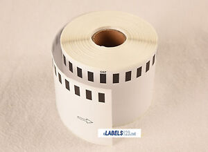 Brother Shipping Postage Continuous Labels 2205 White Multipurpose 100 Rolls