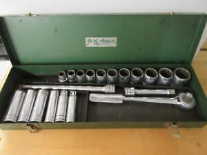 Vintage S k Tools 1 2 Drive Socket Set 20 Pcs