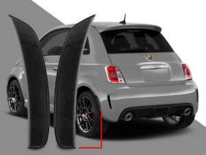 Euro Smoke Rear Bumper Side Marker Reflector Lights Pair For 2011 2017 Fiat 500