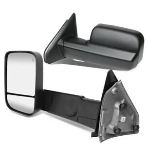 Fit 02 09 Dodge Ram Pair Powered Adjustment Towing Camper Side Mirrors Heated