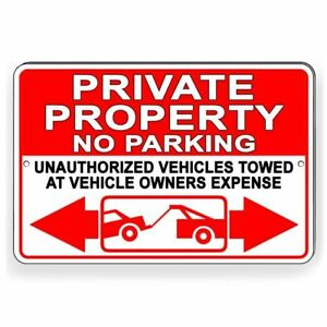 Private Property No Parking Violators Towed At Owners Expense Sign Metal Spp012