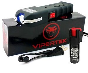 Vipertek Vts 989 550 Bv Rechargeable Led Heavy Duty Stun Gun Pepper Spray