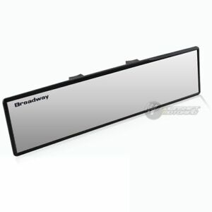 Broadway 270mm Wide Flat Interior Clip On Car Truck Rear View Mirror Universal