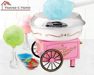 450w Hard And Sugar Free Cotton Candy Maker Nostalgia Vintage Design Fluffy New