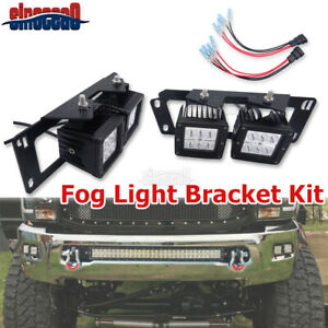 For 09 18 Dodge Ram 1500 2500 3500 24w Led Fog Light Pod Lower Bumper Kit