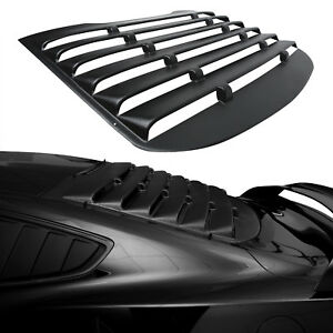 Gt Racing Black Rear Window Louver Sun Shade Cover Trim For 15 17 Ford Mustang
