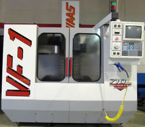 1997 Haas Vf 1 Cnc Vertical Mill 20 x16 4th axis Ready 7500 Rpm Chip Auger
