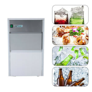 Stainless Steel Commercial Ice Maker Built in Undercounter Freestand 55lb 24hr
