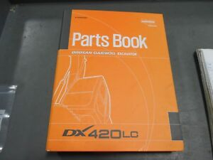 Doosan Daewoo Excavator Parts Book Dx420lc 93