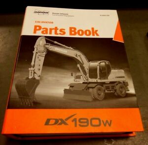Doosan Daewoo Excavator Parts Book Dx190w 94