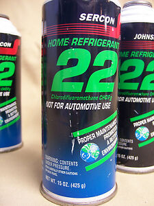 One Can Sercon R 22 Home Ac Air Conditioning Refrigerant 22 15 Oz Can New R22