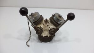 Vintage Elkhart Gated Wye Y Fire Ackron Fire Truck Water Valve Part Clapper