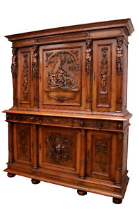 Showy Antique French Renaissance Cabinet Excellent Quality 19th Century
