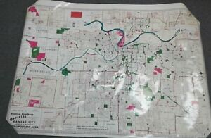 Hearne Brothers Official Map Of Kansas City 1960 S Salesman Sample Map