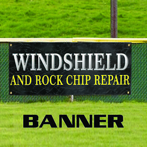 Windshield And Rock Chip Repair Replacement Services Business Vinyl Banner Sign