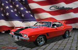 1974 Dodge Challenger American Muscle Print