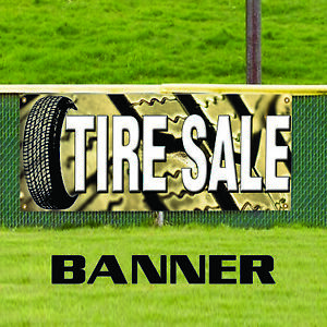 Tire Sale Business Promotional Advertising Outdoor Vinyl Banner Sign