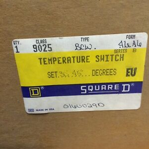 Square D 9025 Temperature Switch 9025 bcw 46 New