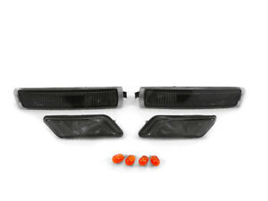 Smoke 4 Pieces Front Bumper Fender Side Marker Lights For 1996 2002 Bmw Z3