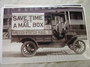 191 Ford Model T Us Mail Truck 11 X 17 Photo Picture
