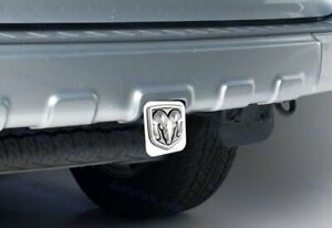 Dodge Ram 3d Logo Chrome Stainless Steel Hitch Cover Cap For 2 Trailer Receiver