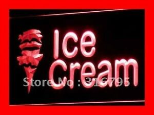 Ice cream Cafe Mini Bar Nr Led Neon Light Signs On off Switch 20 Colors 5 Sizes