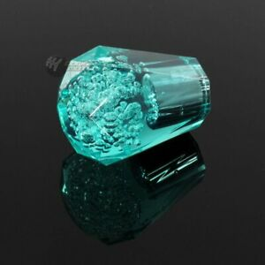 Universal Vip Diamond Crystal Transparent Bubble Drift Shift Knob 60mm Teal