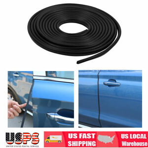 3m Black Car Door Edge Lip Strip Guard Protector Moulding Trim Anti Dent Diy Us