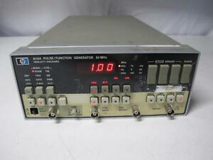 Agilent Hp 8116a Programmable Pulse function Generator 1 Mhz 50 Mhz