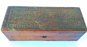 Antique Wheeler Wilson Sewing Machines Ornate Wooden Box Advertising