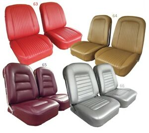 1963 1966 Corvette Leather Seat Covers New Any Factory Original Color C2 New