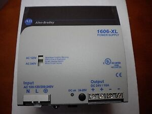 New Allen bradley 1606 xl Power Supply Cat 1606 xl240ep Output Dc 24v 10a