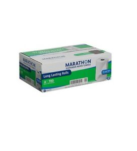 Marathon Dispenser Roll Paper Towels 700ft 6 Rolls