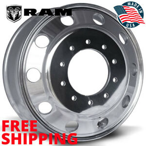 19 5 X 6 Dodge Ram 4500 5500 Polished Accuride alcoa Style 10 Lug 40018xp