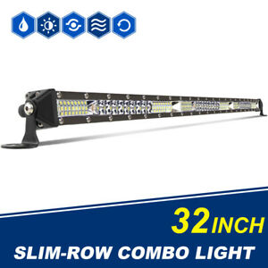 29inch 30 2592w Led Work Light Bar Spot Flood Combo Offroad Boat Jeep Truck Rzr