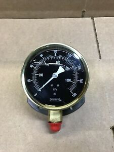 Noshok Brass 0 160 Psi Pressure Gauge With 4 Face Dial