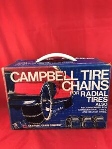 Vintage Campbell Tire Snow Mud Chains 1207 1207ct Fits Certain 13