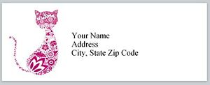 Personalized Address Labels Abstract Cat Buy 3 Get 1 Free bx 202