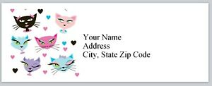 Personalized Address Labels Cute Cat Faces Buy 3 Get 1 Free bx 199