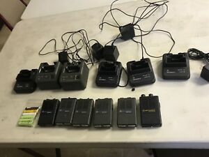 Lot Of 6 Low Band 46 50 Motorola Minitor Ii 2 Pagers And Chargers