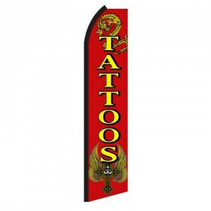 Tattoos Windless Swooper Flag 15 Full Sleeve Banner Pole
