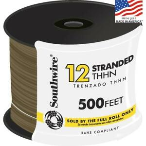 Southwire Building Wire 12 Stranded Cu Thhn 500 Ft Copper Brown