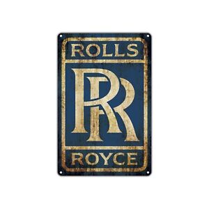 Rolls Royce Rr Vintage Retro Metal Sign Decor Art Shop Man Cave Bar Garage