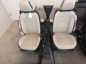 2015 2019 Ford Mustang Front Rear Seat Set Black Beige Heat Leather Convertible