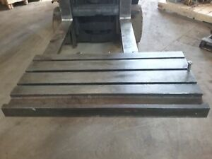 39 X 20 X 4 Steel Weld T slot Table Cast Iron Layout 3 Slot Jig