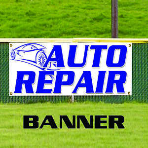 Auto Repair Foreign Domestic Workshop Business Advertising Vinyl Banner Sign