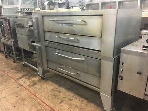 Bakers Pride V 600 Double Stack Pizza Ovens used