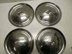 Vintage Original 1950 s Desoto Hub Caps Wheel Covers Moon Sombreros Hubcaps