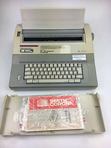 Smith Corona Electronic Typewriter Xl 1900 Model 5a 1 And Original Manual